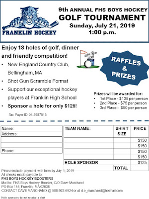 2019 Annual Franklin Hockey Golf Tournament - July 21