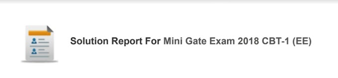 MINI GATE EXAM 2018 CBT-1 ELECTRICAL ENGINEERING [MADE EASY]