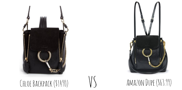 9acef380a3f9 Okay is it just me or does Amazon have such good Chloe bag dupes? My best  friend Baylie got a backpack for her semester abroad and that inspired me  to get a ...