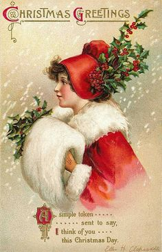 Carte postale ancienne Christmas Greetings