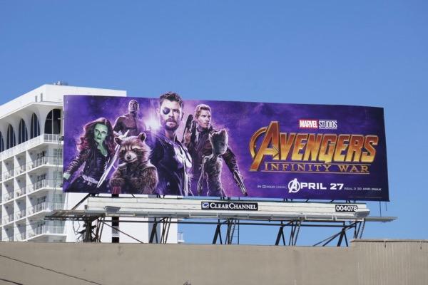 Avengers Infinity War Thor GOTG billboard