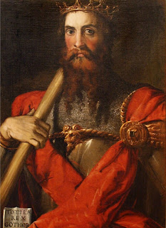 Francesco Salviati's portrait of the Ostrogoth king Totila, painted in about 1549