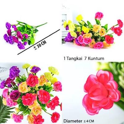 Bunga Plastik / Bunga Artificial Camellia (Seri X4)