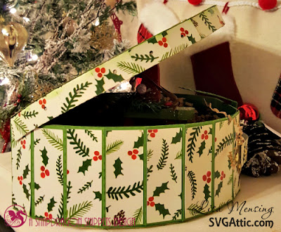 SVG Attic Round Traveling Case created by Lisa In the Crafting Cave for The Magic of Christmas Blog Hop