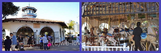 The carousel is a big attraction at Seaport Village