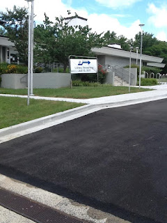 Refurbished parking lot and exterior of Aspen Hill Library