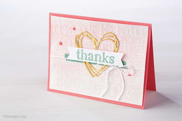 A World of Thanks Background Stamp, Stampin Up!