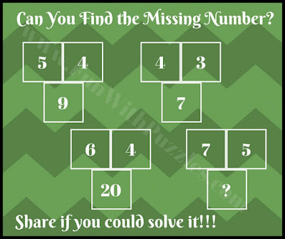 Fun math picture puzzle brain teaser