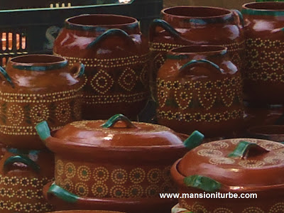 Mexican Pottery in Patzcuaro at the Pottery Fair