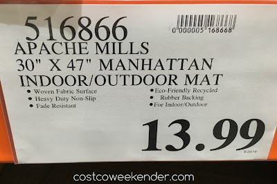 Deal for the Apache Mills Manhattan Heavy Duty Entry Mat at Costco