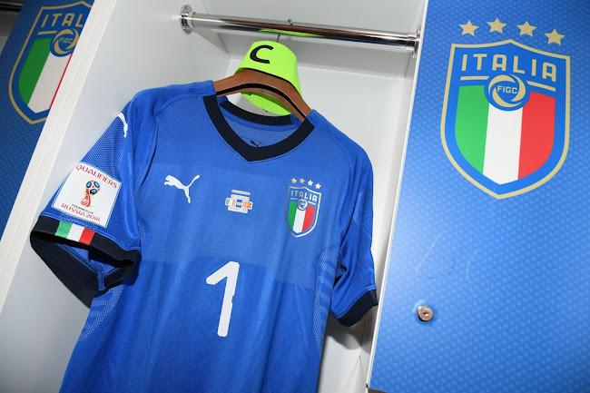 3bc090095 Buffon Debuts New Puma Italy 2018 Home Kit + Puma Updates Old Italy ...