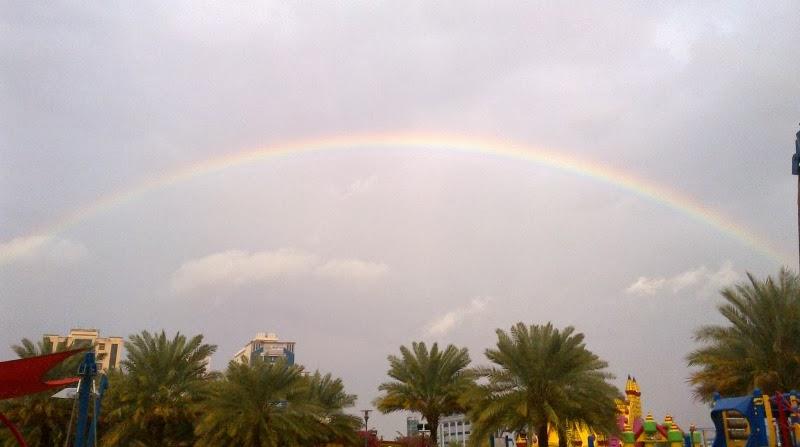 Rainbow in Dubai