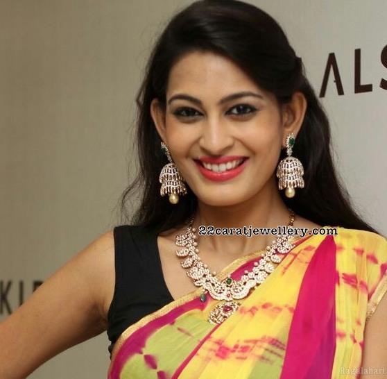 Swetha Jadhav Mango Necklace
