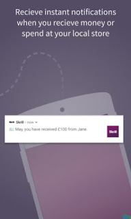 Skrill app receive instant notifications