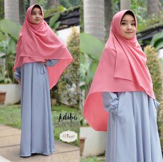 Gamis Athiyyah Adiba Dress Dusty Blue