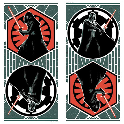 "Star Wars The Force Awakens ""Dark Sides"" Screen Print by Brian Miller x Dark Ink Art"