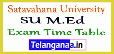 Satavahana University SU M.Ed Exam Time Table