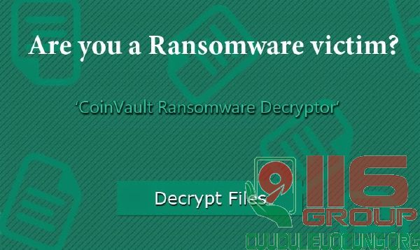 Giải mã dữ liệu bị mã hóa do virus Ransomware