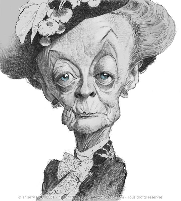 Maggie Smith por Thierry Coquelet