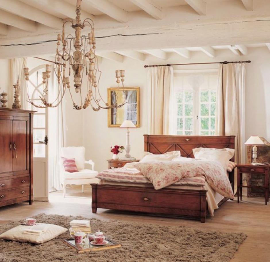 eye for design decorate with rustic italian chandeliers 11308 | interior modern design ideas with wooden platform bed and rustic chandeliers for country style women bedroom beautiful woman bedroom ideas for your inspiration