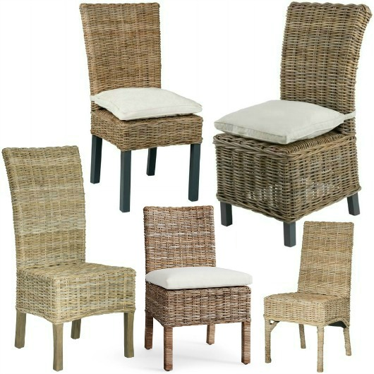Indoor Rattan Chairs for Coastal amp Beach Style Living  : rattan dining room chairs armless from www.completely-coastal.com size 530 x 530 jpeg 89kB
