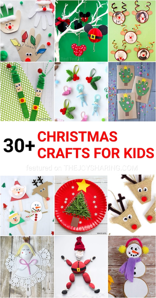 30 easy christmas crafts for kids the joy of sharing 30 easy christmas crafts for kids