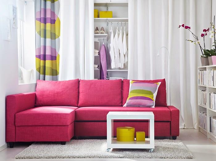 bricolage e decora o ideias para salas com sof s cor de rosa. Black Bedroom Furniture Sets. Home Design Ideas