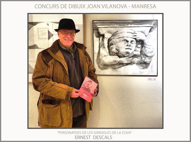 MANRESA-CONCURS-DIBUIX-JOAN VILANOVA-OBRES-FINALISTES-PERSONATGES-COVA-SANT IGNASI-FOTOS-CASINO-ARTISTA-PINTOR-ERNEST DESCALS-