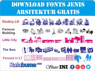 fonts jenis karakter arsitektur