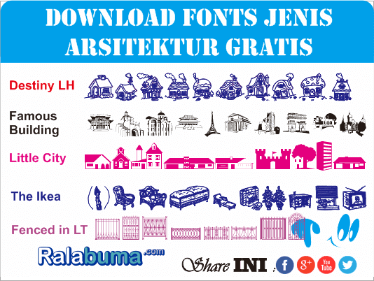 Download Fonts Gratis Arsitektur Karakter