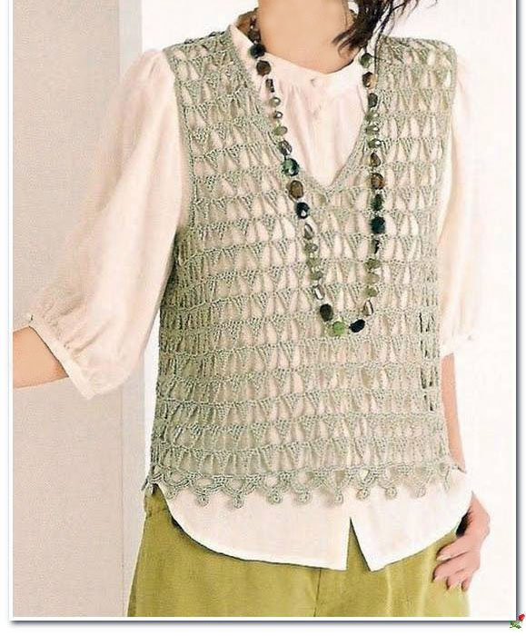 Crochet and arts: simple vest