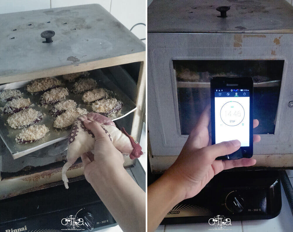 Terung Crunchy Mozarella Recipe Tahap Memanggang Oven