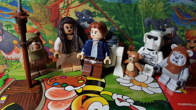 Ewocs, Leia and Han Solo