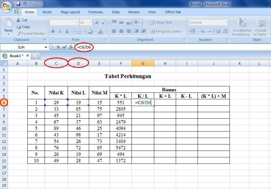 tutorial, belajar, rumus, microsoft, excel, operasi, matematika, cara, tabel, laporan