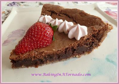 Fudgy Pie | www.BakingInaTornado.com