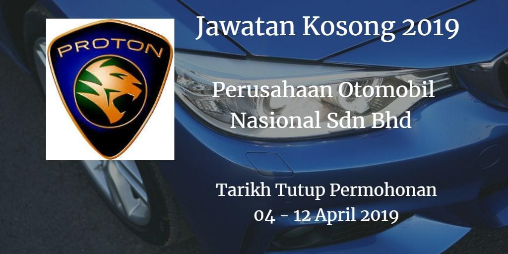 Jawatan Kosong PROTON 04 -  April 2019