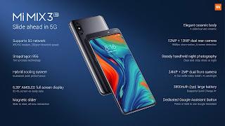Xiaomi mi mix 3, slide ahead in 5G