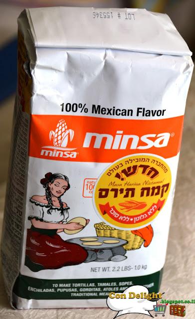 minsa whit corn flour קמח תירס לבן מינסה