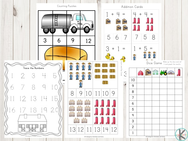 farm-themed-number-worksheets