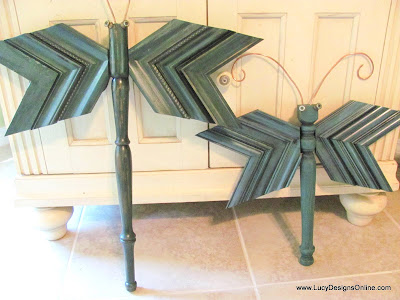 things to make with picture molding scraps dragonfly art