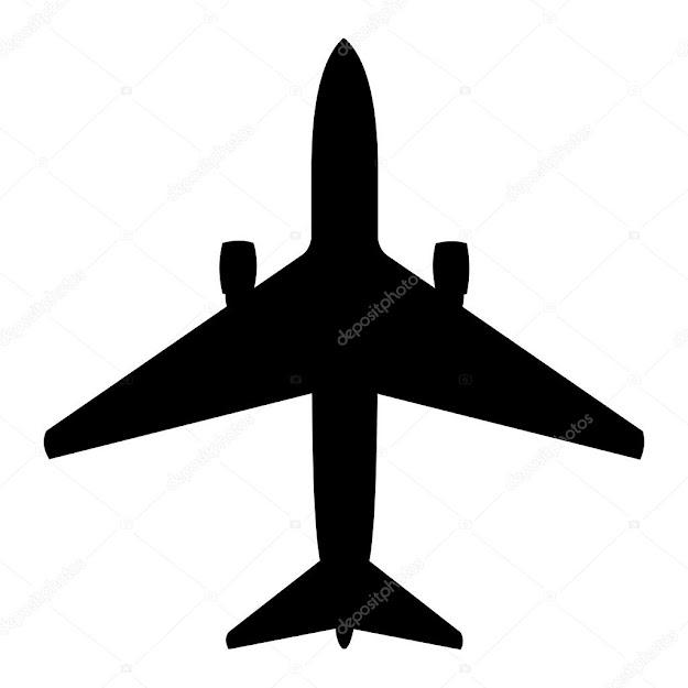 Vector Plane Silhouette  Stock Vector