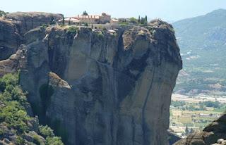 Vistas desde la Roca del Oso, Monasterio de Agía Triada o Monasterio de la Santísima Trinidad.