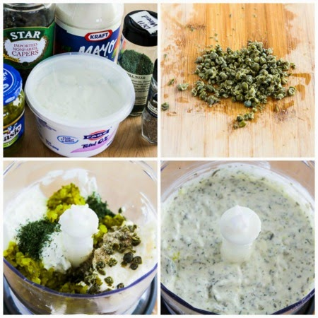 Ultra-Easy Double-Dill Diet Friendly Tartar Sauce found on KalynsKitchen.com
