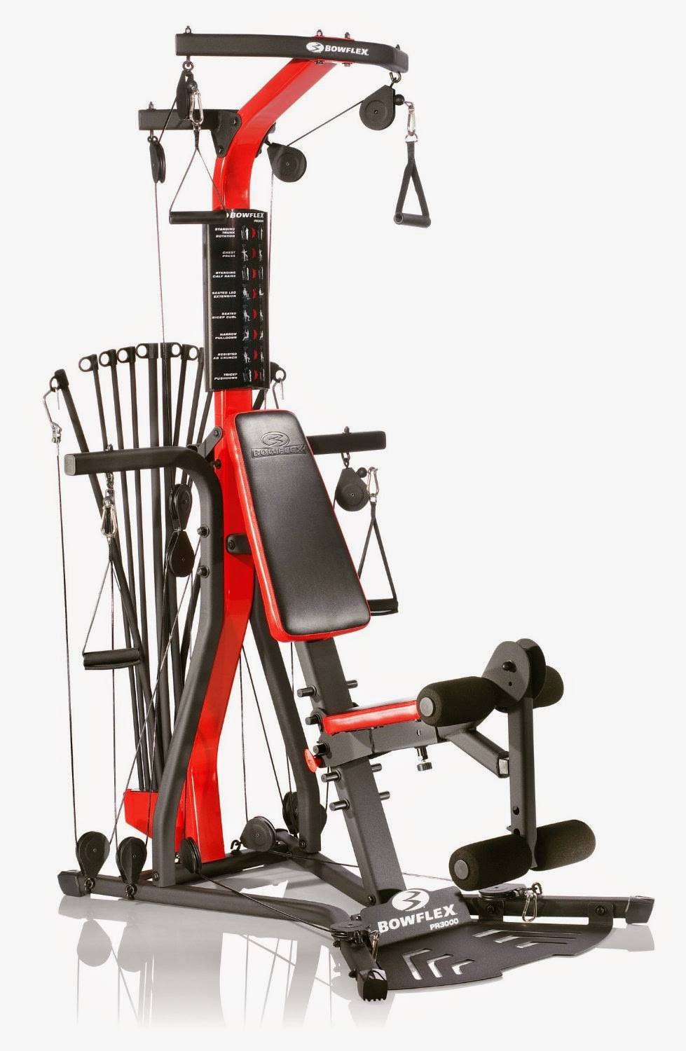 Bowflex PR3000 Home Gym, review list of strength exercises