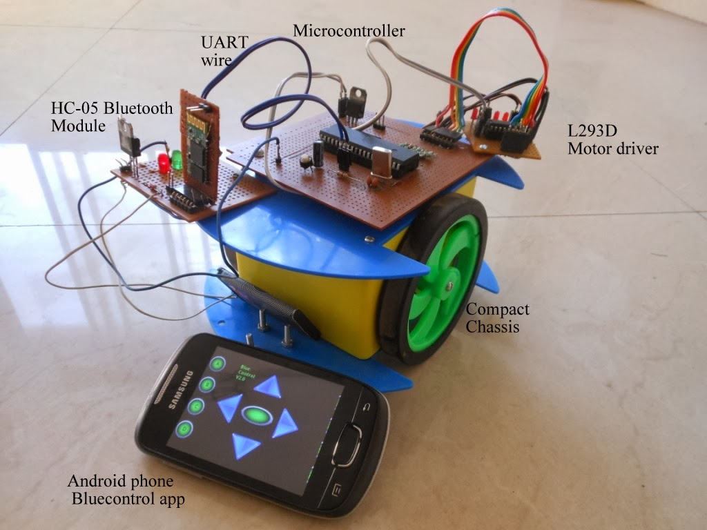 Android Controlled robot using 8051 Microcontroller | About