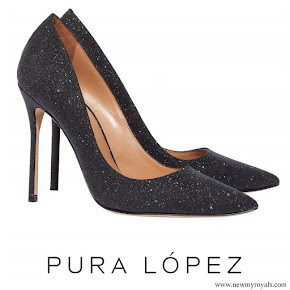 Crown Princess Mary wore Pura Lopez Kameron Evening Heeled Pumps