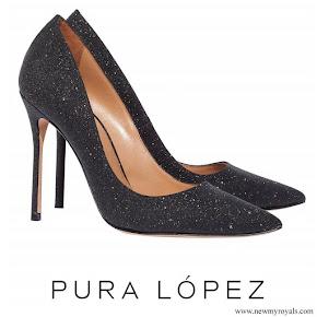 Crown Princess Mary wore Pura Lopez Kameron Evening Heeled Pumps