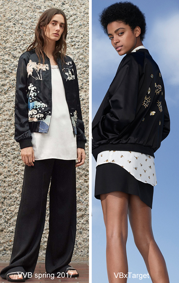 Victoria Beckham for Target bug bomber jacket, bee print top