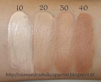 KRIPA - Total Revive Foundation - recensione - review - colore 10 Pocelain - 20 Light Beige - 30 Medium Beige - 40 Honey Beige - inci - prezzo - price - indredienti - indredients - swatch - texture - packaging - bio - vegan - natural