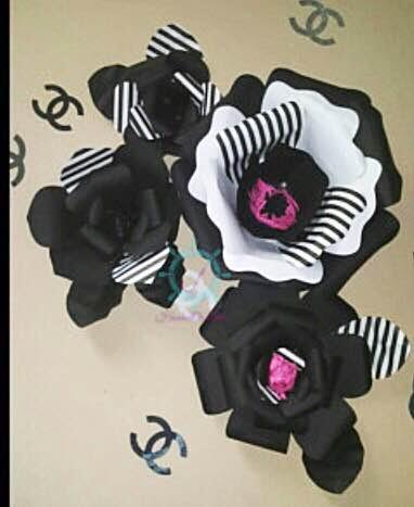 Mamas gone crafty top favorite giant paper flower backdrops amazing imagination behind this black white set i love the stripped petals mightylinksfo